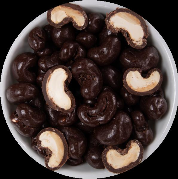 Cashewkerne in Zartbiterschokolade