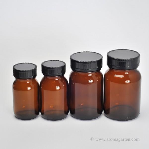 Braunes Vorratsglas Weithals 125 ml