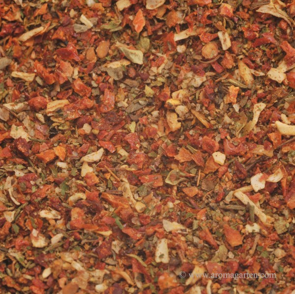 Bruschetta-Mozarella-Tomaten Gewürzubereitung